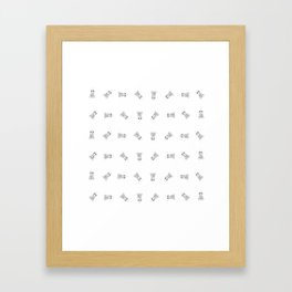 Little scattered Buddha Framed Art Print
