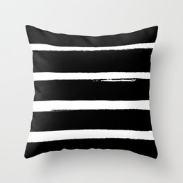 BLK Stripes Throw Pillow