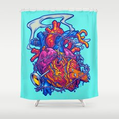 BUSTED HEART Shower Curtain