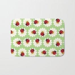 Ladybugs pattern Bath Mat