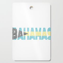 Bahamian National Flag Vintage Bahama Distressed Gift Cutting Board