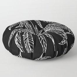 Reverse Cannabis Illustration Floor Pillow
