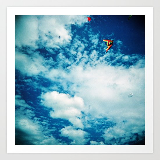Clouds and Kites Art Print