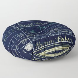 Library Card 780 The Wonderful World of Music Negative Floor Pillow