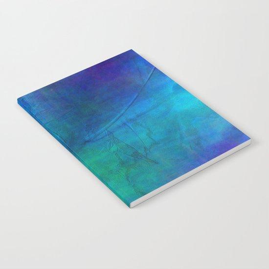 Texture abstract deep blue Notebook