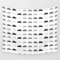 cars Wall Tapestries featuring dreamy cars by Steffi Louis