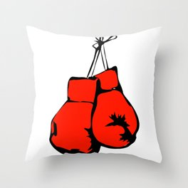 Hanging Boxing Gloves Throw Pillow