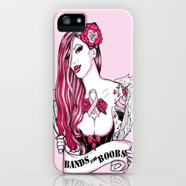 2014 Bands for Boobs Design by Brittany Hanks iPhone Case