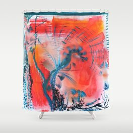 Joyous Lines Shower Curtain