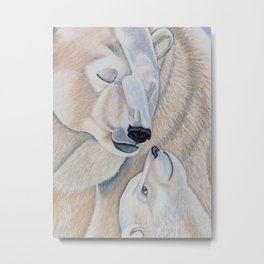 Polar Bear Love Metal Print