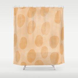 Orange Painting Pattern Shower Curtain
