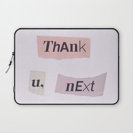 thank you next - Ariana - white Laptop Sleeve