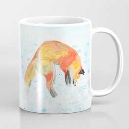 Leaping Fox Watercolor Coffee Mug