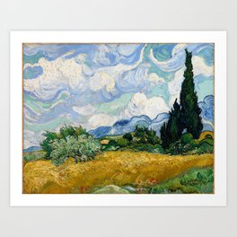 Vincent Van Gogh Wheat Field With Cypresses Art Print