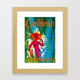 Vintage Caribbean Travel - Jamaica Framed Art Print