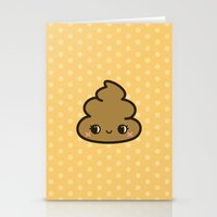 poop Stationery Cards featuring Cutey poop by peppermintpopuk