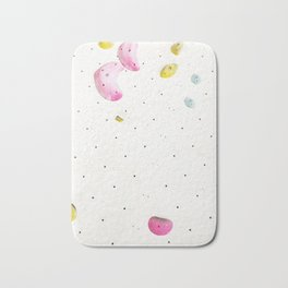 Geometric abstract free climbing bouldering holds white minimal pink Bath Mat