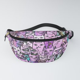 Pink Cat Crowd Fanny Pack