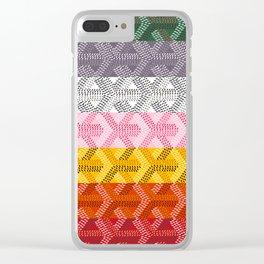Goyard Rainbow Clear iPhone Case