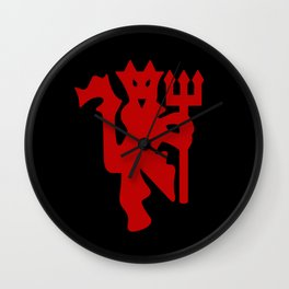 The Red Devil Logo Wall Clock