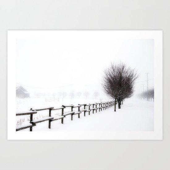 The Magic of Snow Art Print