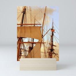 FULL STEAM AHEAD Mini Art Print