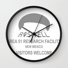 ROSWELL AREA 51 Wall Clock