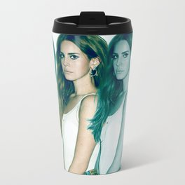 Lana - Blue Jeans, White Shirt Metal Travel Mug