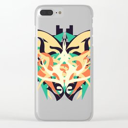 Abstraction Twenty-One Vorpal Clear iPhone Case
