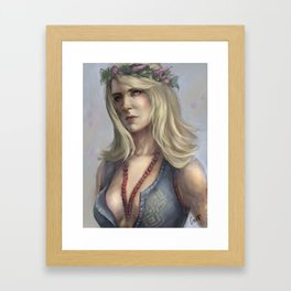 The witch from the swamp Framed Art Print