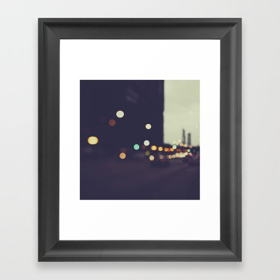 Late Night Framed Art Print