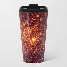 Copper Bronze Glitter Stars Travel Mug