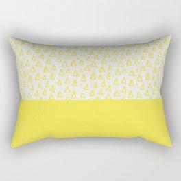 Triangles yellow Rectangular Pillow