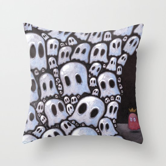 100 ghosts Throw Pillow
