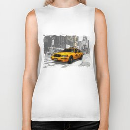 Yellow Cab at the Times Square Biker Tank