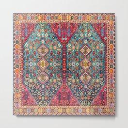 N131 - Heritage Oriental Vintage Traditional Moroccan Style Design Metal Print