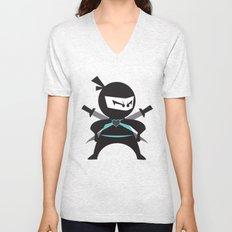 Ninja (with heart) Unisex V-Neck