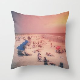 Beach Party 2 Throw Pillow