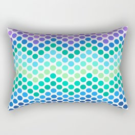 Dot Chevron: Blue Purple Rectangular Pillow