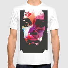 Sad Woman White MEDIUM Mens Fitted Tee
