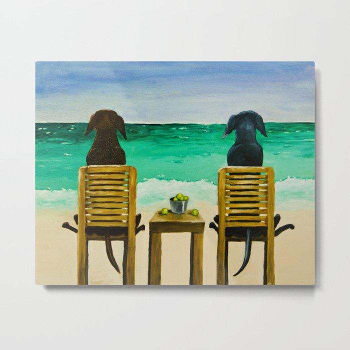 Beach Bums Metal Print