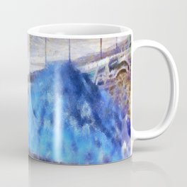 Beach Umbrellas In Impressionist Style Coffee Mug