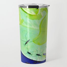 Water striders on lily pad Travel Mug