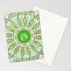 Zodiac Sign Taurus Mandala Stationery Cards