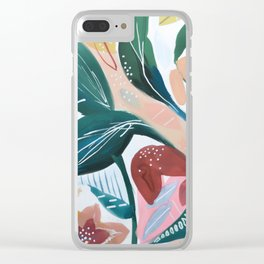 Botanical Green Leaf Jungle Clear iPhone Case