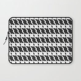 Black and white geometric abstract background, cloth pattern, goose foot. Pied de poule. Ve Laptop Sleeve