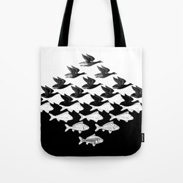 Escher - Sky and Water Tote Bag
