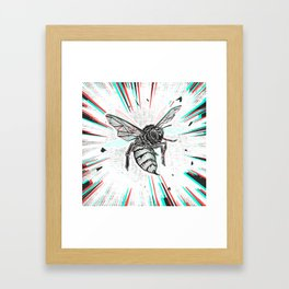 This wasp is pissed! Framed Art Print