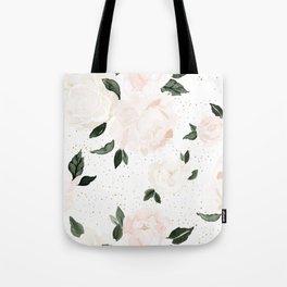 vintage blush floral Tote Bag
