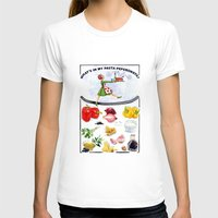 pasta T-shirts featuring WHAT'S IN MY PASTA PEPERONATA? by Colette van der Wal
